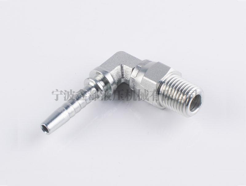 15691KSW-S 美制NPT外螺纹旋转短身弯角液压胶管接头