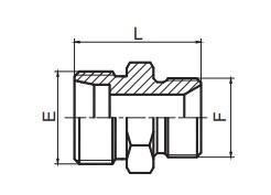 1CB/1DB 英管螺纹60°锥密封或组合垫密封两用柱端