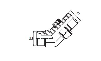 1CG4-OG/1DG4-OG 45°弯英管螺纹可调向O形圈密封柱端