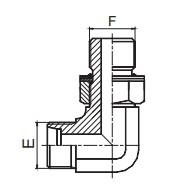 1CG9-OG/1DG9-OG 90°弯英管螺纹可调向O形圈密封柱端