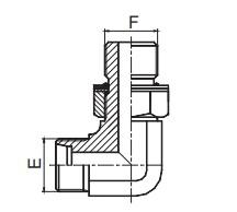 1CH9-OG/1DH9-OG 90°弯公制外螺纹可调向柱端