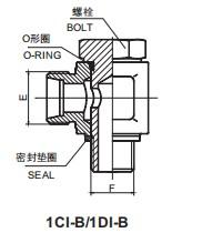 1CI-B/1DI-B BSP BANJO 英管螺纹铰接接头
